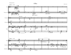 Efflux (2006) -- for Pierrot plus percussion