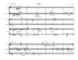 Efflux (2006) -- for Pierrot plus percussion