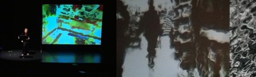 Feedback (2005) -- a multimedia collaboration with Hyun Ju Kim, with live image processing and performance.