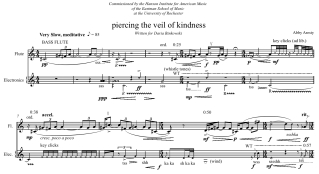 Piercing the veil of kindness (2007) -- Flute(s) and electronics